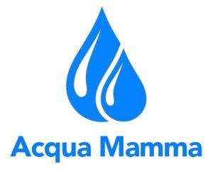 Logo Acqua Mamma White con scritta